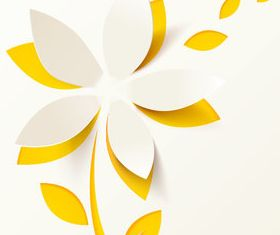 Paper flower background 2 vector graphics