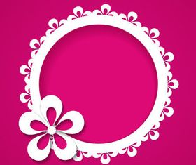 Paper flower background 3 vector graphics