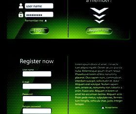 Glass login boxes 2 vector