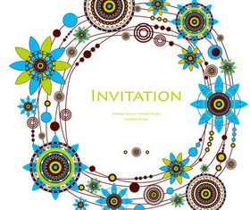 Floral Invitation cards background vector
