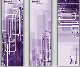Purple abstract banner vector