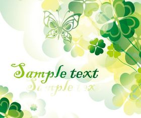 Floral shiny background 2 vectors
