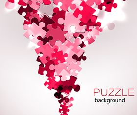 Color puzzle background 1 vector