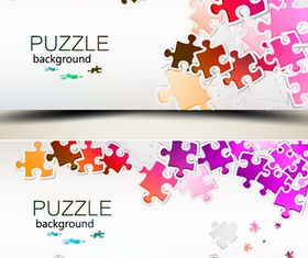 Color puzzle background 2 vector