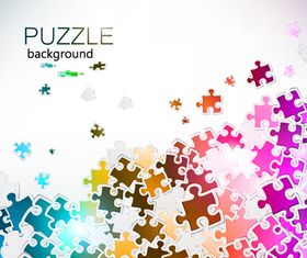 Color puzzle background 3 vector
