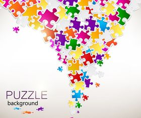 Color puzzle background 4 vector