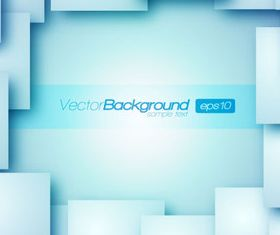 Rectangle squares 3d background 1 creative vector