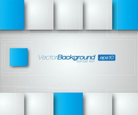 Rectangle squares 3d background 2 creative vector