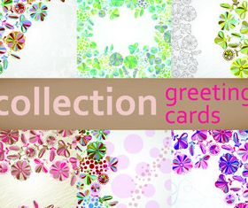 Floral greeting card background 1 vector
