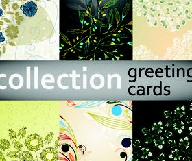 Floral greeting card background 2 vectors