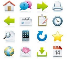 3D shiny icons design vector