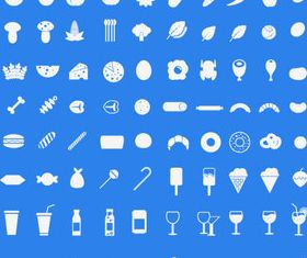 Mini foodie icons vector