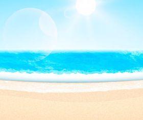 Beach travel 6 vector