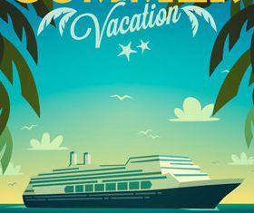 Beach travel 8 vector
