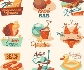 Beach travel 9 vector