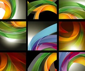 Abstract Colored ribbon background vectors