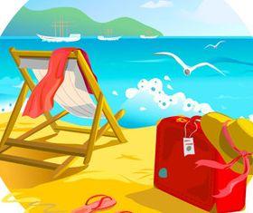 Beach travel 1 vector