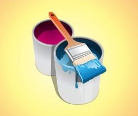Buckets Paint vector