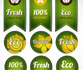 Eco natural labels 2 vector