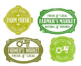 Eco natural labels 5 vector