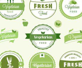 Eco natural labels 6 vector