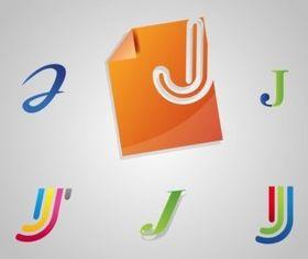 Letter J Logos vector