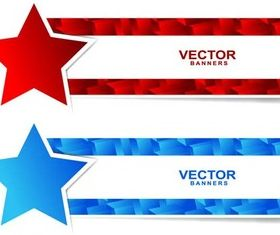 Stars Banners vector graphic