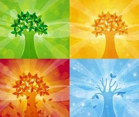 Color Season Elements vector