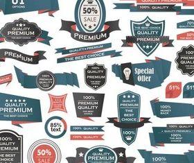Quality Premium Labels design vectors