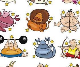 Zodiac Symbols free vector