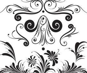 Floral Elements vectors graphics