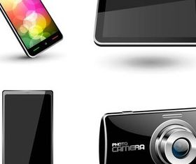 Stylish Modern Devices vector