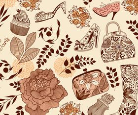 Hand drawn elements pattern vector