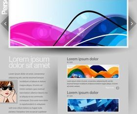 Web template design 1 vector