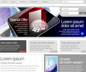 Web template design 3 vector