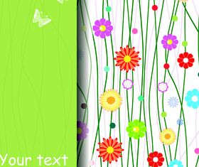 Cute flower background vectors material