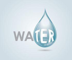 Water drop background vector graphic