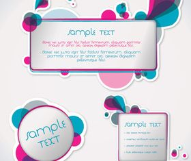 Abstract text boxes design vectors