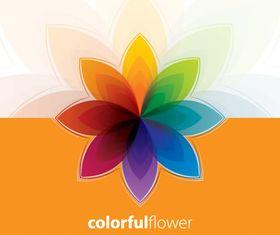 Colorful flower background vector set