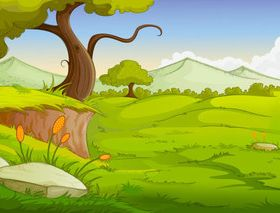 Cartoon jungle background 11 creative vector