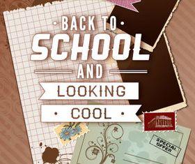 Back school vintage background 05 vector