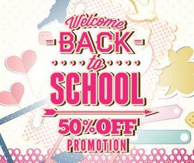 Back school vintage background 07 vector