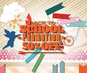 Back school vintage background 09 vector
