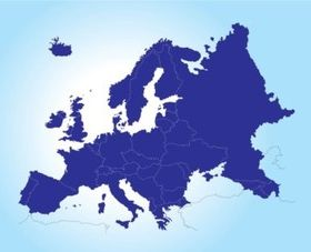 Map Europe vectors graphic