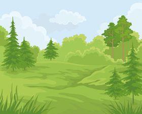 Cartoon jungle background 03 vector
