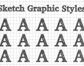 Sketch graphic style alphabet vector design