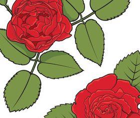 Vintage rose 2 vectors