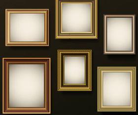Retro photo frames 1 vector