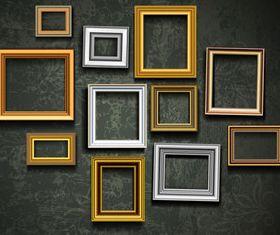 Retro photo frames 3 vector