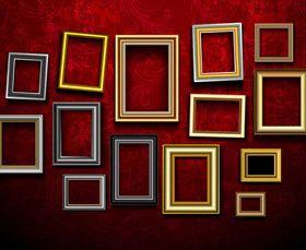 Retro photo frames 4 vector